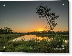 Acrylic Print featuring the photograph Cloudless Hungryland Sunrise by Tom Claud