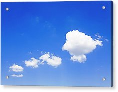 Clouds In A Blue Sky, Valensole Acrylic Print by F. Lukasseck
