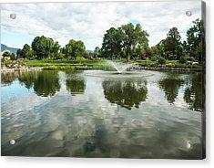 Clouds On Ashley Pond Acrylic Print