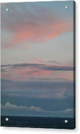 Clouds Over The Ocean Acrylic Print