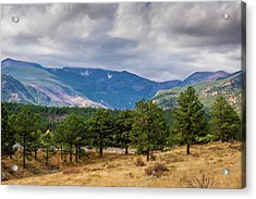 Acrylic Print featuring the photograph Clouds Over The Rockies by James L Bartlett