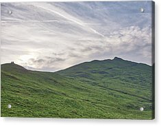 Acrylic Print featuring the photograph Clouds Over Thorpe Cloud by Scott Lyons