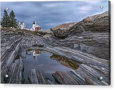 Cloudy Afternoon At Pemaquid Point Acrylic Print