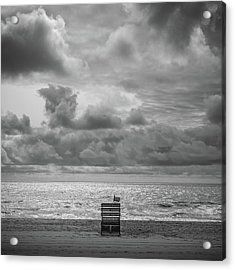 Cloudy Morning Rough Waves Acrylic Print