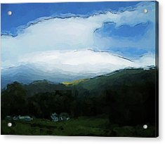 Cloudy View Painting Acrylic Print
