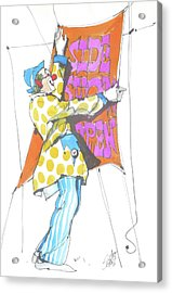 Clown Acrylic Print by Art Scholz