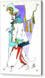 Clown Walk Acrylic Print by Art Scholz