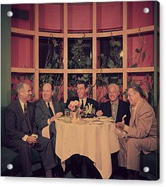 Club Lunch Acrylic Print by Slim Aarons