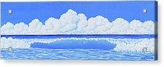 Cobalt Wave Acrylic Print