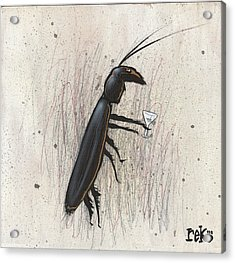 Cockroach With Martini Acrylic Print
