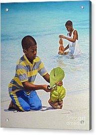 Coconut Boats Acrylic Print