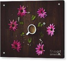 Coffee And Flowers Acrylic Print