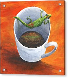 Acrylic Print featuring the painting Coffee With A Friend by Darice Machel McGuire