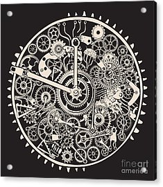 Cogs And Gears Of Clock Acrylic Print