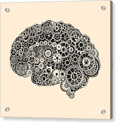 Cogs In The Shape Of A Human Brain Acrylic Print