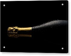 Cold Champagne Bottle Acrylic Print by P1images
