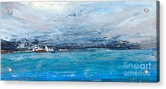 Cold Ocean, Landscape With The Sea Acrylic Print