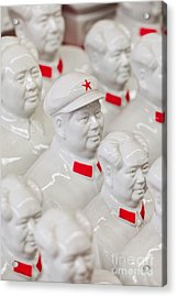 Collection White Mao Zedong Sculptures Acrylic Print