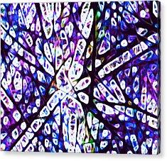 Collision 1 Purple Acrylic Print