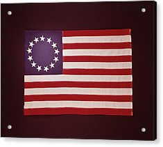 Colonial Us Flag Acrylic Print by H. Armstrong Roberts