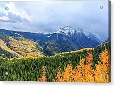 Colorado Aspens And Mountains 3 Acrylic Print