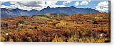 Acrylic Print featuring the photograph Colorado Autumn Panorama Colorful Bliss by James BO Insogna