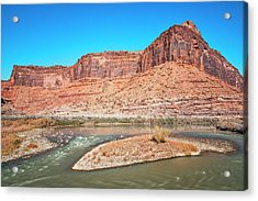 Acrylic Print featuring the photograph Colorado River At Salt Wash by Andy Crawford