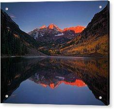 Colorado Sunrise Acrylic Print by Piriya Photography