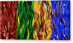 Colored Fire Acrylic Print