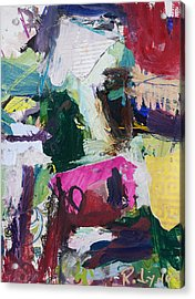 Colorful Abstract Cow Painting Acrylic Print