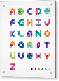 Colorful Abstract Font Acrylic Print