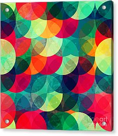 Colorful Circle Seamless Pattern With Acrylic Print