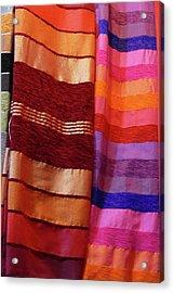 Colorful Fabrics In The Medina Market  Acrylic Print
