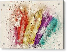 Colorful Feather Acrylic Print