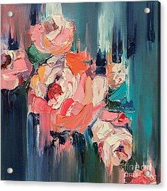 Colorful Flowersoriginal Oil Painting Acrylic Print