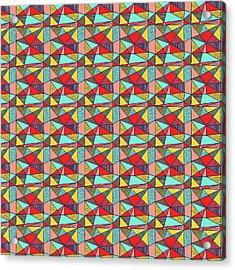 Colorful Geometric Abstract Pattern Acrylic Print