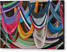 Colorful Hammocks Acrylic Print by Philippe Marion