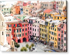 Colorful Houses Of Vernazza With Acrylic Print