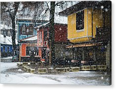 Colorful Koprivshtica Houses In Winter Acrylic Print