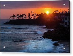 Colorful Laguna Beach Sunset Acrylic Print