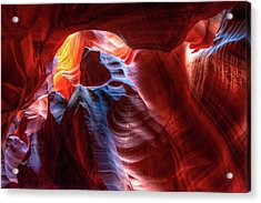 Colorful Layers Of Antelope Canyon Acrylic Print