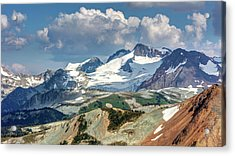 Acrylic Print featuring the photograph Colorful Mountain Peaks by Pierre Leclerc Photography