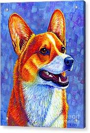 Colorful Pembroke Welsh Corgi Dog Acrylic Print