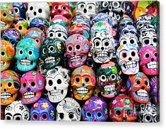 Colorful Skull From Mexican Tradition Acrylic Print