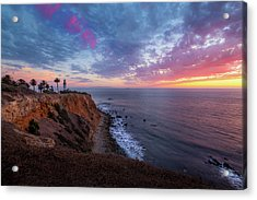 Colorful Sky After Sunset At Point Vicente Lighthouse Acrylic Print