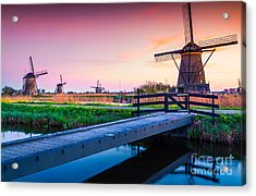 Colorful Spring Scene In The Famous Acrylic Print