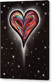 Colorful Total Eclipse Of The Heart 1 Acrylic Print