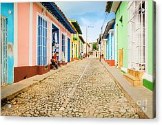 Colorful Traditional Houses In The Acrylic Print