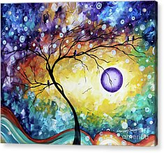 Colorful Whimsical Original Landscape Tree Painting Purple Reign By Megan Duncanson Acrylic Print