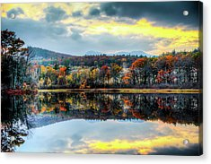 Colors In Fall Acrylic Print by Joe Martin A New Hampshire Portrait Photographer